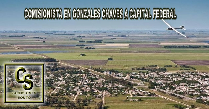 Comisionista en Adolfo Gonzales Chaves a Capital Federal