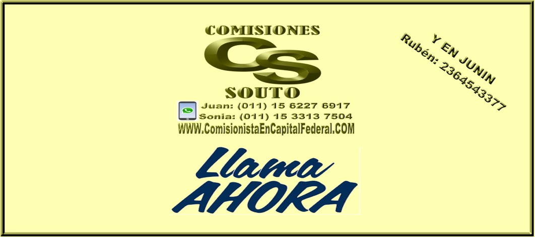 Comisionista Junin Buenos Aires – Capital Federal